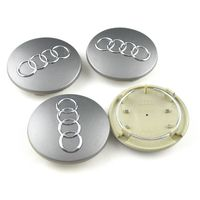 60mm AUDI A3 A4 A6 A8 TT Q5 Q7 Quattro NEW WHEEL CENTER HUB CAP SET