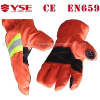 Kevlar safety Fireman gloves