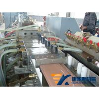 PE/PVC Wood Plastic Composite Profile Extrusion Line
