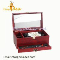 Wooden Wine Box with Tools