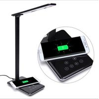 LED Desk Lamp with Qi Wireless Charger for Apple Iphone / Samsung