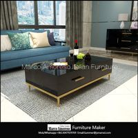 china suppliers furniture mirrored coffee table stainless steel gold color coffee table modern