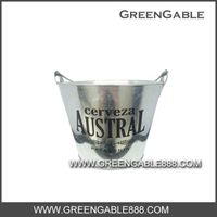 0.32mm galvanized metal. greengable ICE BUCKET(IBG-004)
