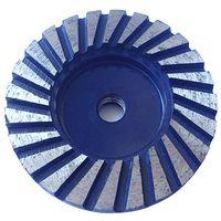 Heavy Duty 4 inch Ripple Segment Diamond Turbo Cup Grinding Wheel thumbnail image