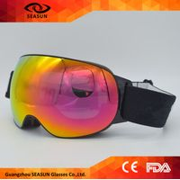 Manufacturer Custom Logo Ski Strap Goggles Winter Ice-skating Snow Goggle