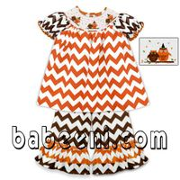 Chevron baby hand smocked set