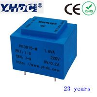 PCB mounting power transformer 110V 220V 230v to 6V 9V 12V 15V 18V 24V