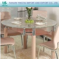 Round Glass Dining Table with Chair