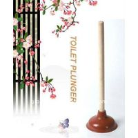 HQ2212 housewares rubber toilet pump/toilet plunger/drain buster with wooden handle thumbnail image