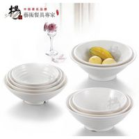 6.65 inches small plastic melamine white noodle bow rice bowl soup bowl set restaurant tableware hot