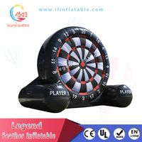 Popular Sport Games Outdoor big Inflatable Kick Darts with velcro football