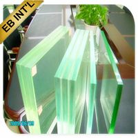 sell 5.38mm 6.38mm CLEAR LAMINATED GLASS for curtain walls and windows, laminated glass with CE Cert