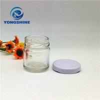 30ml mini glass jam jar for honey food packing with tin metal lid