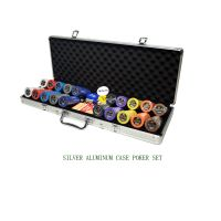 Poker Set Of 200 Chips In Leather Carrying Case