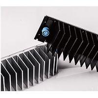 CNC milling large extruded aluminum flexible heat sink