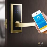 Bluetooth Keypad Cylindrical Door Lock With Backup Merchanical Key
