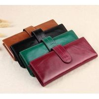 Wallet Wholesale, Waxy Skin Women Genuine Leather Wallets