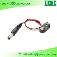 9V Battery Clip with DC plug, DC power cord thumbnail image
