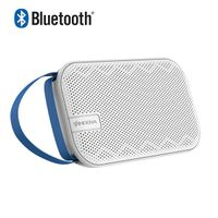 Built-in Passive Radiator portable wireless BT Speaker with leather strip