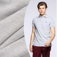 Polyester-cotton knitted fabric Double-strand mercerized cotton Piqué mesh T-shirt Men's Polo shirt thumbnail image