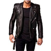 Leather Biker Jacket with belt best price