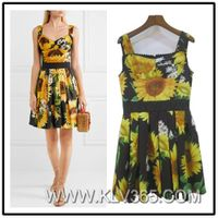 High Quality Clothing Women Fashion Flower Summer Dress Wholesale
