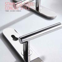 modern New design fancy long Door Handle long plate panel entry door handlesets
