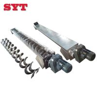 Stainless steel shaftless screw conveyor with screw blade for particle thumbnail image