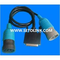 J1939 DEUTSCH 9 PIN TO J1708 6 PIN WITH 25 PIN OBD ADAPTER CABLE thumbnail image