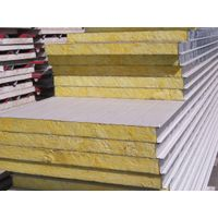 color steel light weight rockwool  sandwich panels for wall