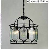 SH0166 American traditional style metal and glass chandeliers for house decoration thumbnail image