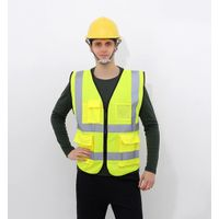 high visibility road safty reflective safety straps vest with yellow thumbnail image