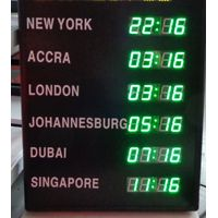 World time zone clock high quality Led wall clock