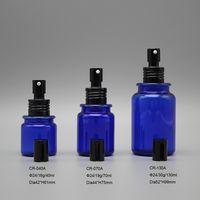 Wholesale 40ml 70ml 130ml blue night refill personalised perfume PETG plastic bottle with sprayer thumbnail image