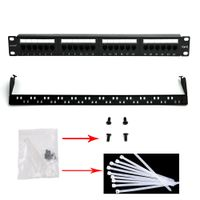 Patch Panel 1u 19'' 24 Ports RJ45 Cat5e /CAT6 Unshielded Fluke Test
