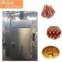 automatic meat suasage smoking machine/pork bacon smoke house oven/commervial fish salmon smoker