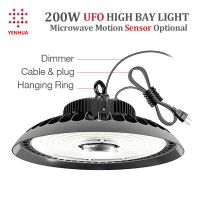 Yenhua Warehouse Light IP65 Waterproof Industry 100W Led High Bay Light For Gymnasium