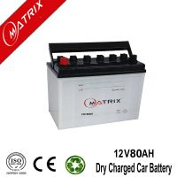 12V 80AH jis Dry charge Auto car Battery