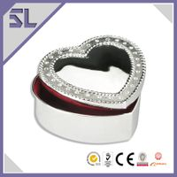 Heart Shape Small Metal Trinket Box