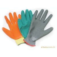 13 gauge polyester with latex working gloves