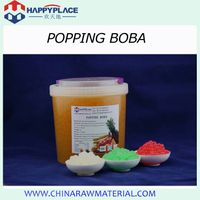 Popping boba for bubble tea topping
