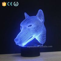 NL77 switch touch acrylic + abc animal shaped table lamp