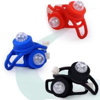 LED Bicycle silicone lamp ring lamp silicone strap button light yellow duck light night warning safe