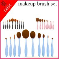 Pro Toothbrush Shaped Eyebrow Foundation Power Face Eyeliner Lip Oval Cream Puff Brushes Toothbrush
