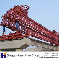 China HSHCL 50m 100t girder erection crane beam launcher equipment used on highway