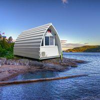Steel tiny sandwich modular house