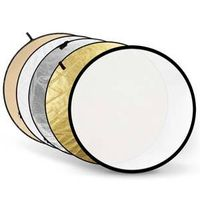 Round Collapsible Photographic 5-in-1 Reflector discs, iPHOTON Professional Studio Photography Acces