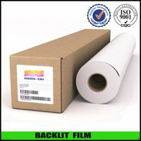 Water based polyester backlit film