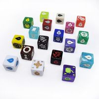 High quality 6 sided custom engraved dice for game
