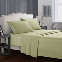 Solid color Bed sheet sets Flat Sheet+Fitted Sheet+Pillowcase Queen/ King Size
